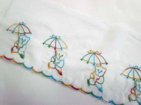 Rainbow Embroidered Scalloped Edge Bear
