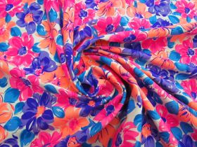 Dizzy Daisy Cotton Jersey- Orange / Pink #5121