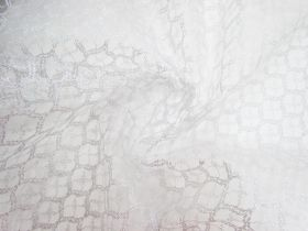 Sparkling Silver Lace Tulle #3329