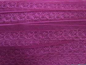 40mm Fine Lace Trim- Passion Pink #362