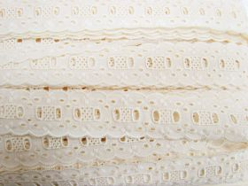 35mm Broderie Anglaise Trim- Rich Cream #358