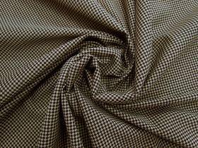 Checkered Cotton Blend Jersey- Beige / Black #5132