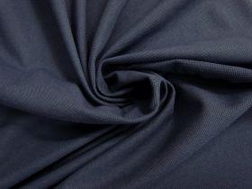 Australian Made Pique Jersey Knit- Shadow Navy #5136
