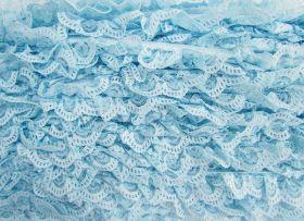 27mm Ariana Lace Frill Trim- Blue #370