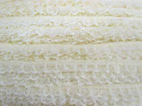 15mm Frill Lace Trim- Butter Cream #378