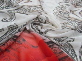 Steel & Roses Chiffon #1382