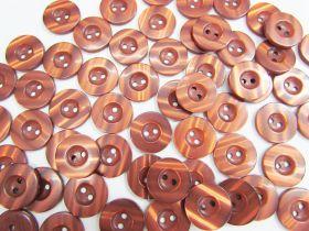 18mm Shiny Brown Fashion Button FB182