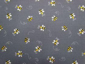 Bumble Bee Cotton- Grey D#9715
