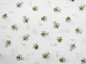 Bumble Bee Cotton- White D#9715