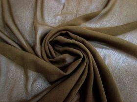 Silk Blend Georgette- Earth Brown #3421