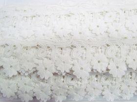 Daisy Joy Lace Trim- Cream White #3434