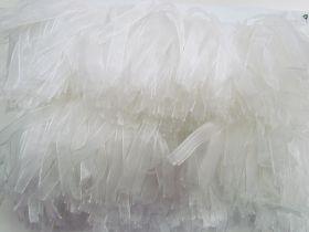 White Swan Stretch Ribbon Fringe #3437