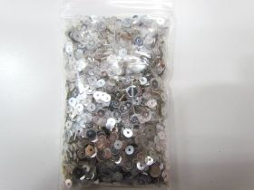 Sequin & Bead Pack- Silver #013
