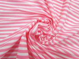 Soft Interlock Jersey- Rosy Stripe #5192