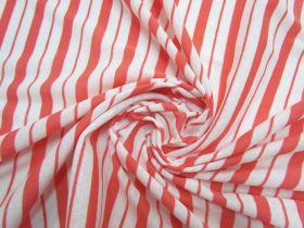 Double Stripe Lightweight Ribbed Jersey- Grapefruit #5195