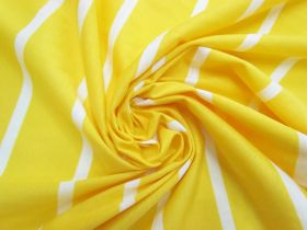 Stripe Cotton Blend Knit-  Zesty Lemon #5197