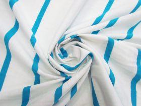 Stripe Cotton Blend Knit- Fresh Blue #5198
