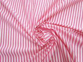 Stripe Cotton Blend Jersey- Bubbly Pink #5201