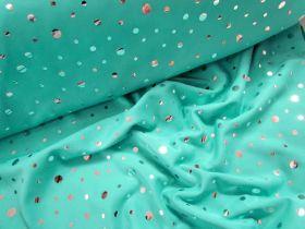 Mirror Rain Foil Spandex- Mint
