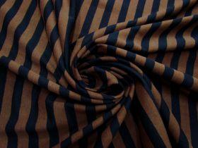 Choc Liquorice Stripe Cotton Knit #5205