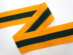 80mm Thick Rib Trim- Yellow & Green #3502