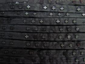 Square Snap Fastener Tape- Triple Snap Black #511