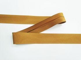25mm Satin Bias Binding- Caramel #694