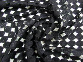 Cosmic Circle Lace- Black #1451
