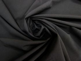 Lightweight Wool Blend Stretch Suiting- Black #5249