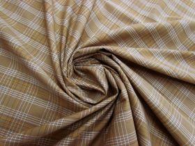 Caramel Check Cotton Blend Shirting #5257