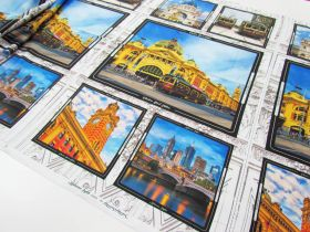 Melbourne Sights Cotton- 61cm Panel #8086-K