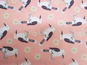 Kookaburra Calling Cotton- Kookaburra Blossoms- Peach #0128-Q