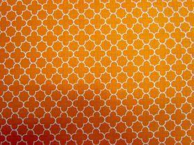 Mini Quatrefoil- Orange