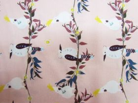 Kookaburra Calling Cotton- Feathered Line Up- Peach #0128-M