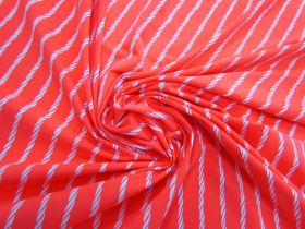 Twisted Ropes Spandex- Fluro Coral #3615