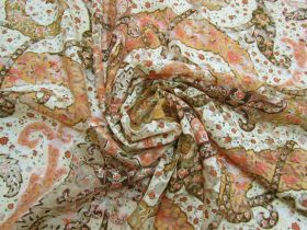 Harvest Gold Paisley Stretch Lace #5273