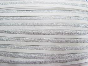 Sparkle Metallic Silver Fold Over Elastic #021