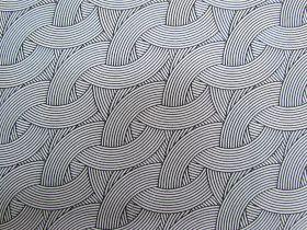 Morning Frost Cotton- Waves Black on White DV2109