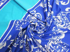 75cm Spandex Panel- Surf Blue Floral #5332