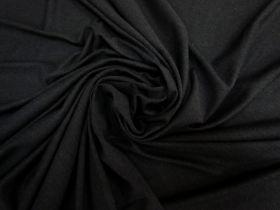 Soft Rayon Cotton Blend Jersey- Black #5338