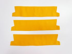 Cotton Drill Pre-made Collar Bundle- 38cm Yellow- 3 for $5