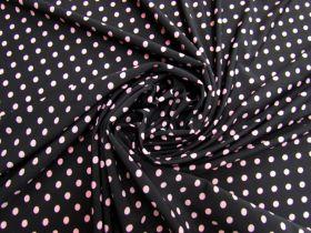 Polka Dot Jersey- Pink On Black #5353