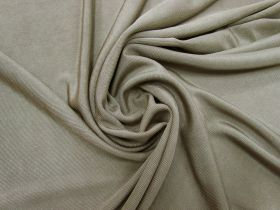 Shiny Ribbed Jersey- Seed Brown #5355