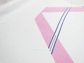 137cm Panel- Retro Stripe Jersey #5358