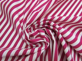 1cm Stripe Interlock Jersey- Berry Maroon #5359