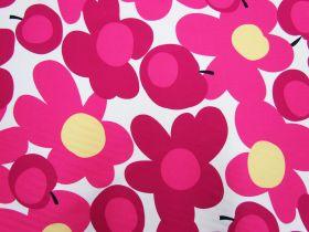 Tutti Frutti Flower Cotton- Pink/White #5363