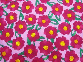 Pop Flower Cotton- Pink #5375