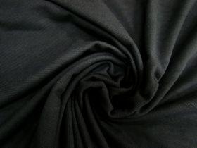 Cotton Pique Knit- Mineral Black #5376