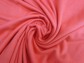 Cotton Pique Knit- Pink Grapefruit #5377