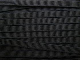 Budget Elastic- 12mm Ribbed- Black